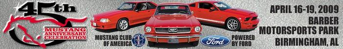 45th Mustang Anniversary Alabama 2009