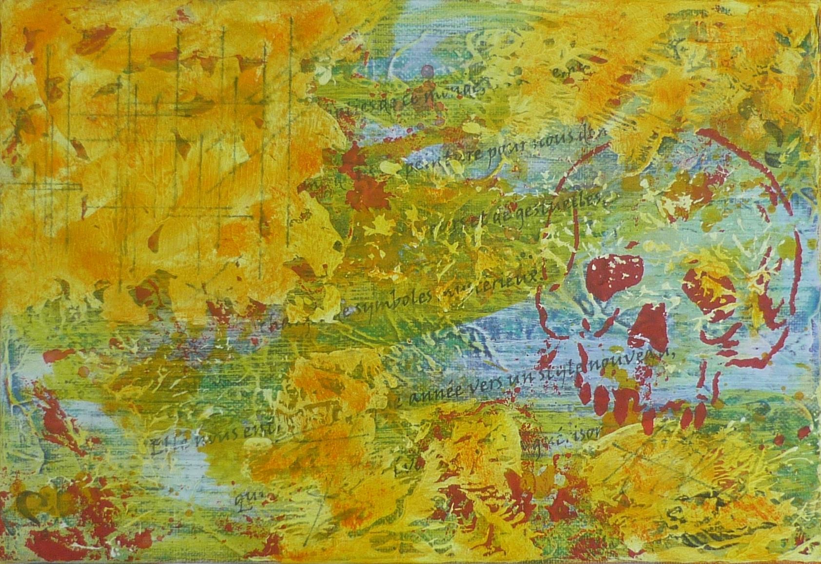 Art expressionniste abstrait du peintre Io. Lagana
