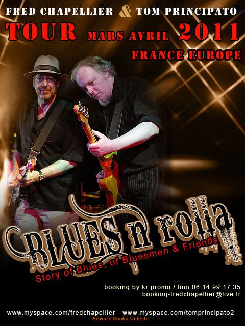 Tournée Europe Mars/Avril 2011 Plateau Blues «Blues'n Rolla»