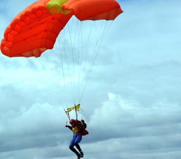 Le saut en parachute