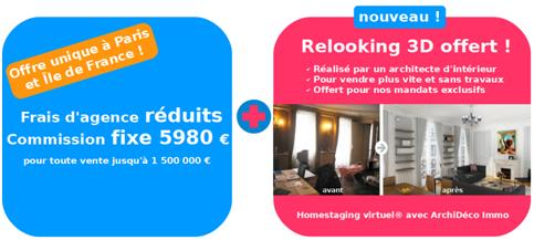 Une agence immobilière au forfait à Paris offre le relooking 3D aux vendeurs
