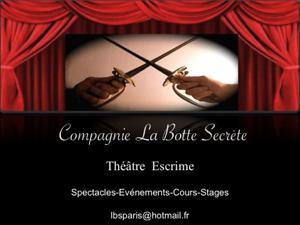 Stage Escrime Théâtre mai 2012