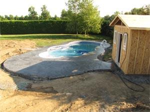 Installation de piscine creusee