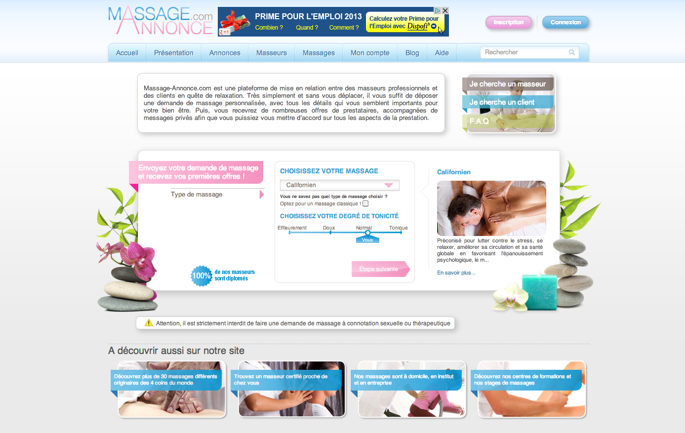 Le massage : un antidote au stress