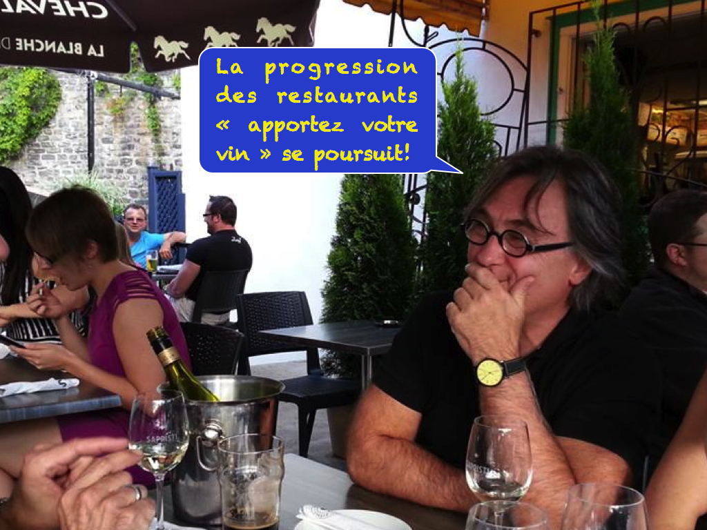 Avec maintenant 15 restaurants sur 100… la progression des restaurants « apportez votre vin » se poursuit sur le marché québécois. Vous ne pouvez pas courir plus vite que l'avenir si vous ne le voyez pas venir.