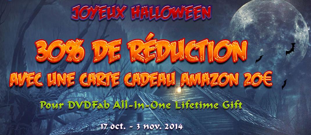 Découvrir l'offre spéciale dans la promotion DVDFab pour Halloween 2014