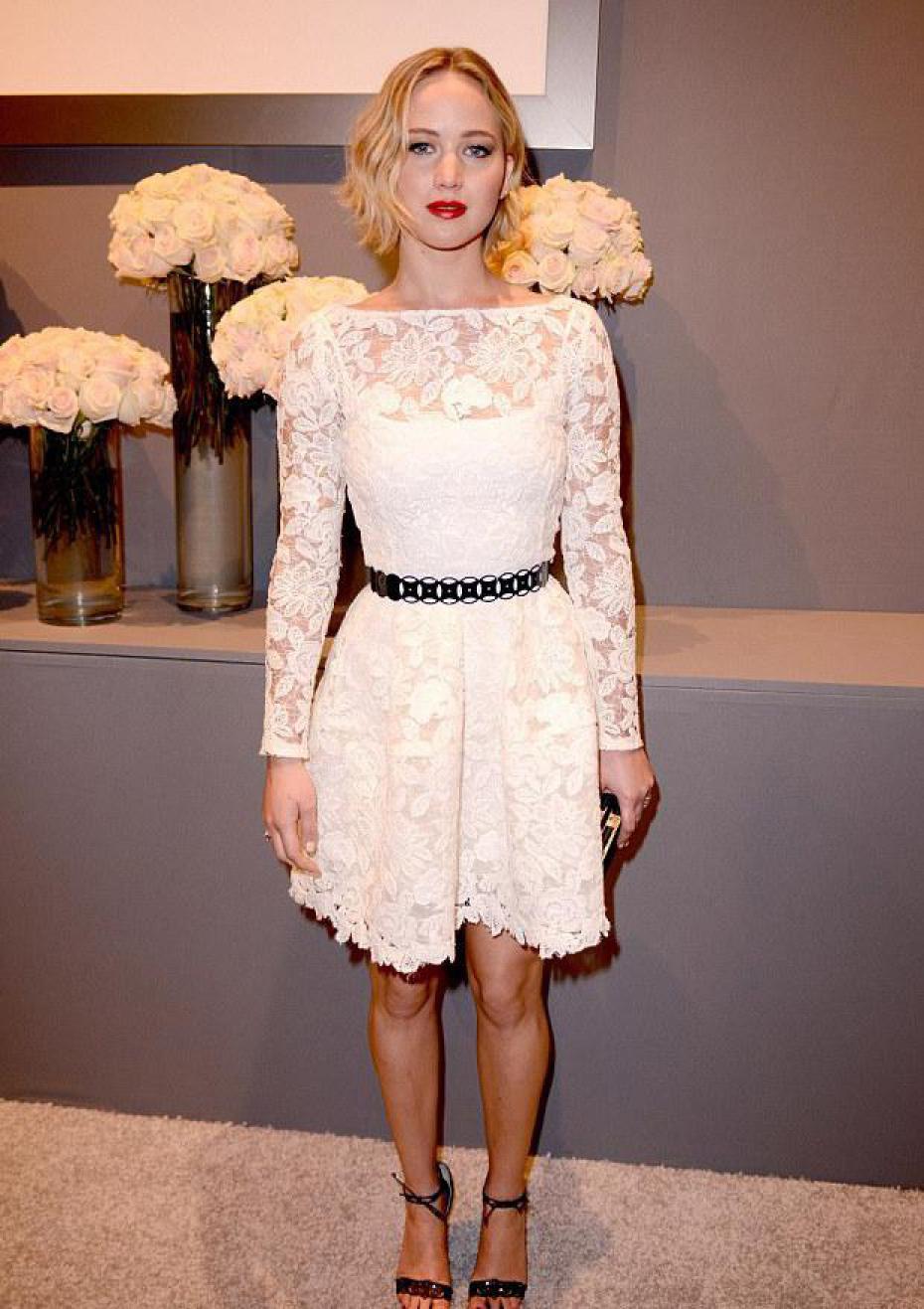 Le look glamour de Jennifer Lawrence