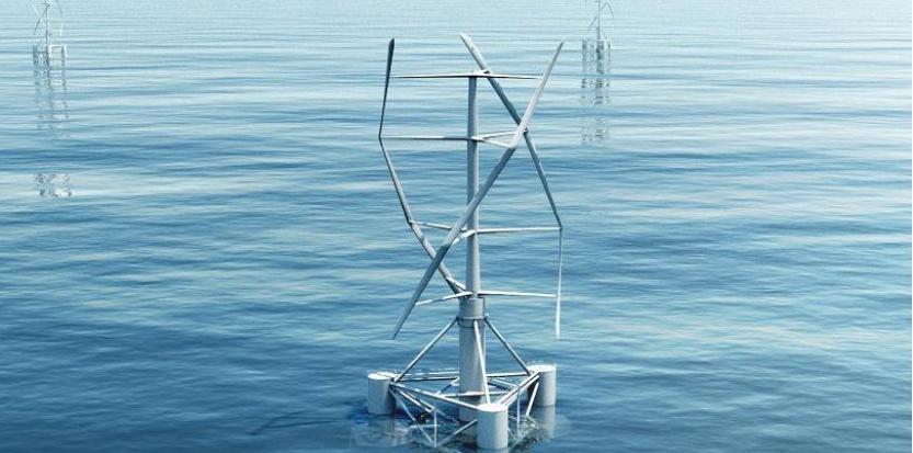Un éolienne d'un nouveau genre en test à Fos-sur-Mer