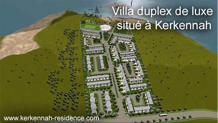 Tunisie a vendre grande villa en duplex de type S+4 avec jardin et plage privée situe sur un bel archipel Méditerranéen