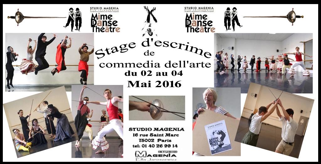 Stage d'escrime théâtrale 02 au 04 mai 2016