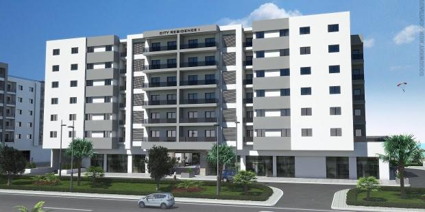 City résidence West Gammarth Garden appartement une chambre au 1 er etage une construction de standing pieds dans l'eau proche du Port Financier et du résidentiel golf Tunis Bay