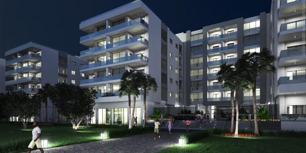 City résidence West Gammarth Garden appartement deux chambres avec superbe terrasse et vue mer situé au 1er etage une construction de standing pieds dans l'eau proche du Port Financier et du résidentiel golf Tunis Bay