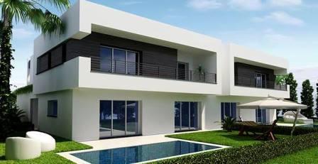 Tunisie immobilier de luxe zone nord de Gammarth belles demeures villa jardin piscine privée résidentiel golf Tunis Bay