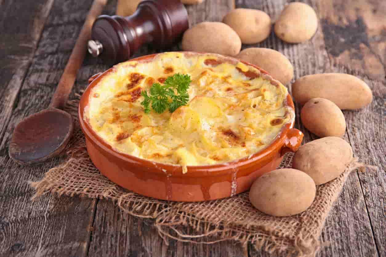 Recette de pommes de terre gratinées au parmesan avec bon de réduction