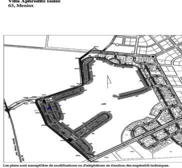 Tunis Bay golf résidence villa Aphrodite 63 Boulevard Meninx de type isolée avec jardin garage piscine privée. Phase 2