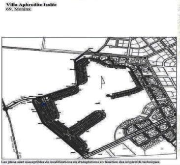 Tunis Bay golf résidence villa Aphrodite 69 Boulevard Meninx de type isolée avec jardin garage piscine privée. Phase 2