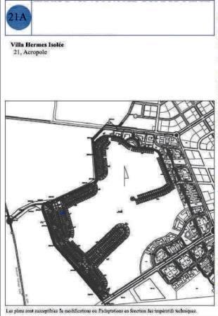 Tunis Bay golf résidence villa Hermes 21 Boulevard Acropole de type isolée avec jardin garage piscine privée. Phase 2