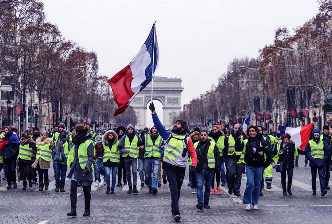 Les Manifestation des Gilets Jaunes à Paris…  régression ou augmentation ?