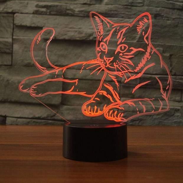 la lampe chat 3D