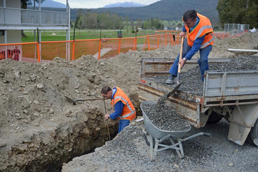 creusement des tranchées