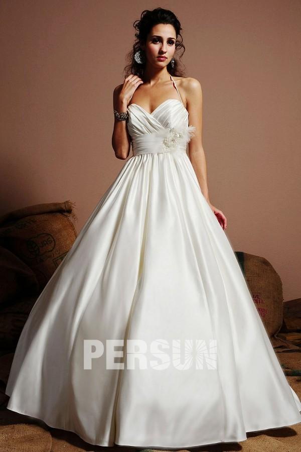 Sexy robe de mariée à dos ouvert personnalisable