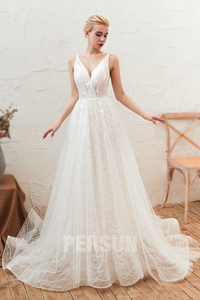 Robe de mariée ligne A en dentelle