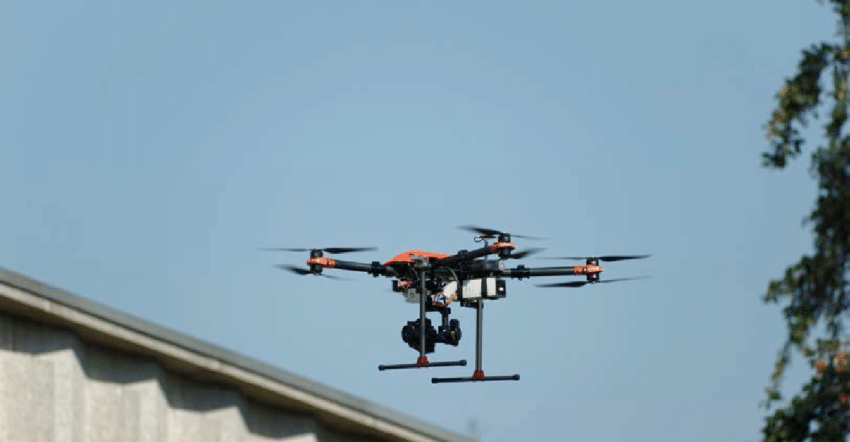 utilisation du drone